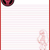 Printable Monster High Ghoulia Yelps Paper - Printable Stationary - Free Printable Activities
