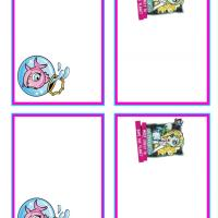 Monster High Lagoona Blue and Neptuna Name Tags