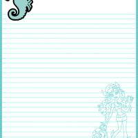 Printable Monster High Lagoona Blue Paper - Printable Stationary - Free Printable Activities