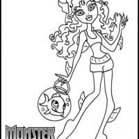 Monster High Lagoona Coloring Sheet