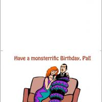 Printable Monster Hug Birthday Card - Printable Birthday Cards - Free Printable Cards