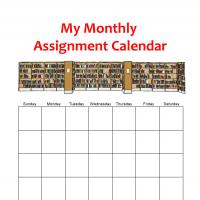 Printable Monthly Assignment Calendar - Printable Monthly Calendars - Free Printable Calendars