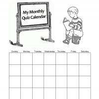 Printable Monthly Quiz Calendar - Printable Blank Calendars - Free Printable Calendars