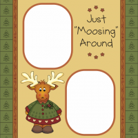 Moose Christmas Scrapbook Cover