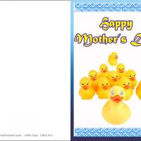Printable Mother And Children Rubber Duckie - Printable Mothers Day Cards - Free Printable Cards