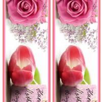 Mother's Day Pink Rose Bookmarks
