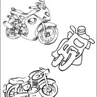 Motorcycles Coloring Sheet
