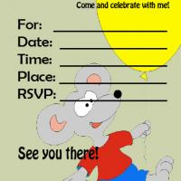 Printable Mouse Invitation - Printable Birthday Invitation Cards - Free Printable Invitations
