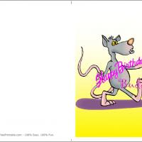 Printable Mouse With Happy Birthday Buddy Banner - Printable Birthday Cards - Free Printable Cards