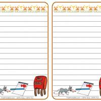 Printable Mouse with Heart Stationary - Printable Stationary - Free Printable Activities