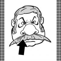 Moustache Flash Card