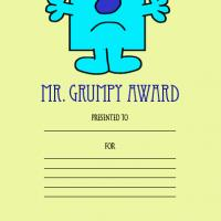 Printable Mr. Grumpy Award - Printable Awards - Misc Printables