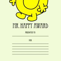 Mr. Happy Award