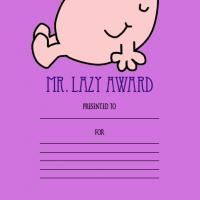 Printable Mr. Lazy Award - Printable Awards - Misc Printables