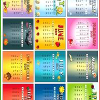 Printable Multi Styled 2011 Calendars - Printable Yearly Calendar - Free Printable Calendars