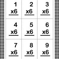 Multiply By Six Flash Card