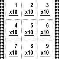 Multiply By Ten Flash Card