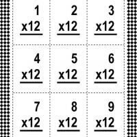 Printable Multiply By Twelve Flash Card - Printable Flash Cards - Free Printable Lessons