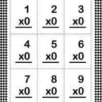 Printable Multiply By Zero Flash Card - Printable Flash Cards - Free Printable Lessons