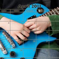 Music Theme April 2011 Calendar