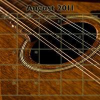 Music Theme August 2011 Calendar
