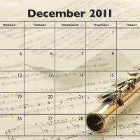 Printable Music Theme December 2011 Calendar - Printable Monthly Calendars - Free Printable Calendars