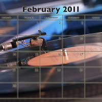 Music Theme February 2011 Calendar