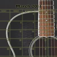 Music Theme March 2011 Calendar