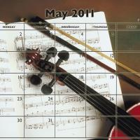 Printable Music Theme May 2011 Calendar - Printable Monthly Calendars - Free Printable Calendars