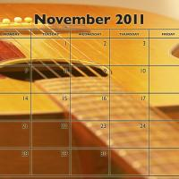 Music Theme November 2011 Calendar