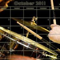 Music Theme October 2011 Calendar