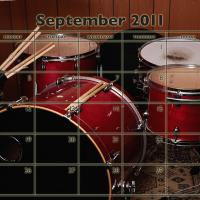 Printable Music Theme September 2011 Calendar - Printable Monthly Calendars - Free Printable Calendars