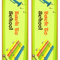 Music Themed Back to School Bookmarks