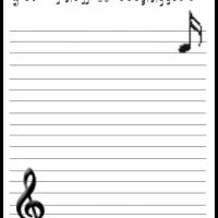 Printable Musical Stationary - Printable Stationary - Free Printable Activities