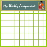 Printable My Assignment Chart - Printable Chore Charts - Free Printable Activities