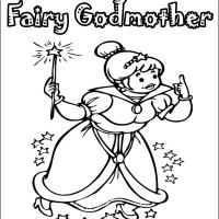 Printable My Fairygodmother - Printable Coloring Sheets - Free Printable Coloring Pages