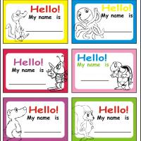 Printable nametags - Printable Labels - Misc Printables