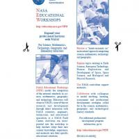 NASA Educational Workshop Bookmark