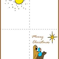 Printable Nativity Card - Printable Christmas Cards - Free Printable Cards