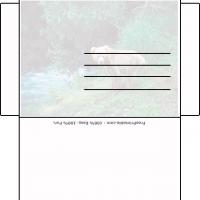 Printable Nature With Bear Envelope - Printable Card Maker - Free Printable Cards