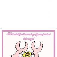 Printable New Little Angel - Printable Baby Cards - Free Printable Cards