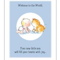 Printable New Son With Kitten - Printable Baby Cards - Free Printable Cards