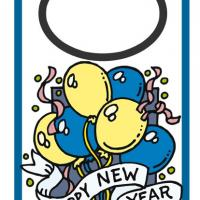 New Year Door Hanger