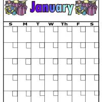 New Year For January BlankCalendar