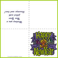 Printable New Year Trumpets Card - Printable Greeting Cards - Free Printable Cards