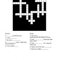 New Years Resolution Crossword