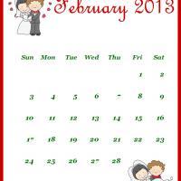 Newly Wed February 2013 Calendar