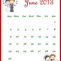 Newly Wed June 2013 Calendar
