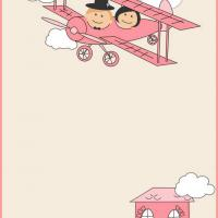Printable Newly Weds on an Airplane - Printable Stationary - Free Printable Activities