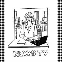 Newscaster Flash Card